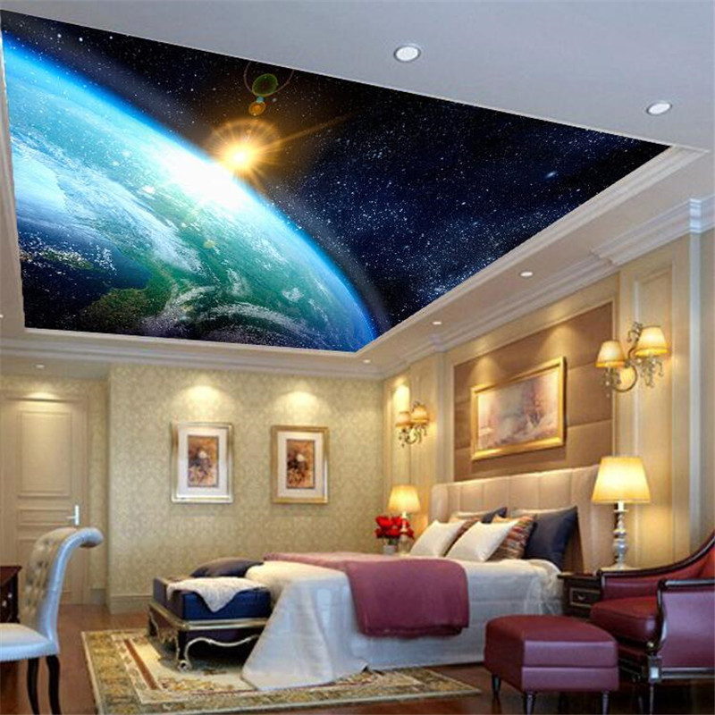 High quality cloth 3d galactic dream wallpaper cosmic for Constellation ceiling mural