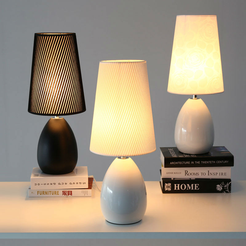 Modern Bedroom Table Lamps European Style Ceramic Fashion