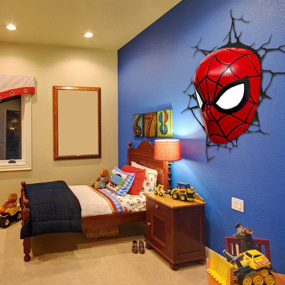 Popular spiderman lamp buy cheap spiderman lamp lots from for 3d room decor