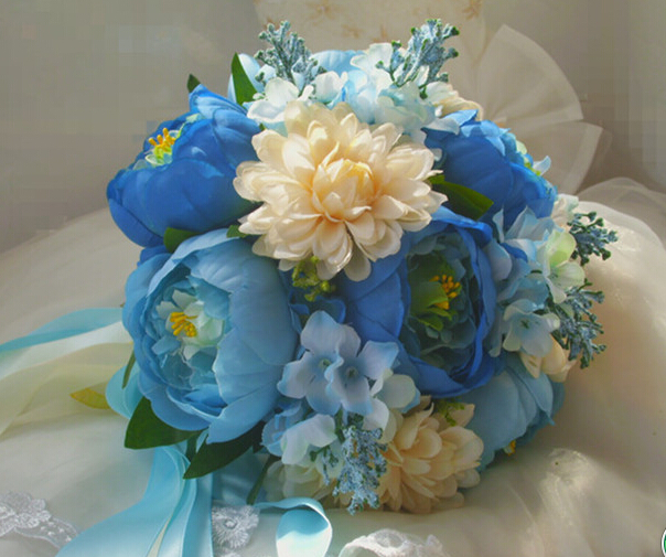 Artificial flower peony bouquet for bride wedding flowers(China (Mainland))