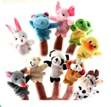 EMS free 2016 hot sales 100bags/lot wholesales Lovely mini animal finger accidentally storytelling good hand puppet doll toys(China (Mainland))