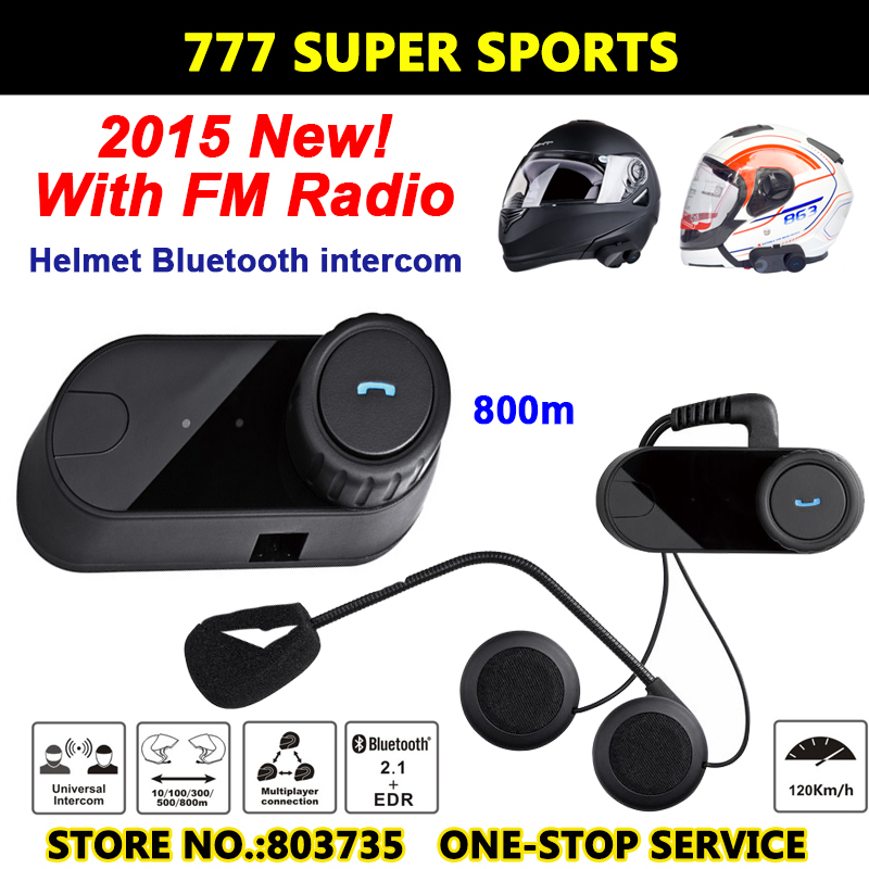 2015 Newest Bluetooth Motorcycle Helmet Intercom Headset Sport Helmets Intephone+RM Radio(China (Mainland))