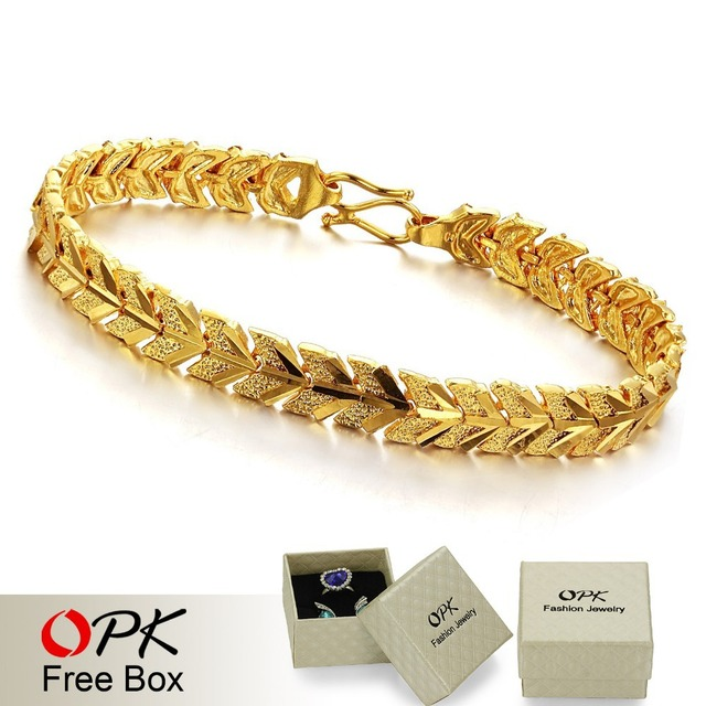 OPK JEWELLERY wedding  Jewelry18k gold plated chain bracelets  wholesale fashion gold bracelet  368
