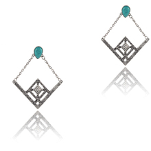 Only 4 U Jewelry 2015 Bohemian Boho Vintage Faux Turquoise Statement  Drop Earrings #ER2014(China (Mainland))