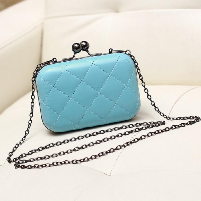 2016 New Arrival Mini Plaid Chain Day Clutch Vintage One Shoulder Bag Cross-body Women's Handbag(China (Mainland))