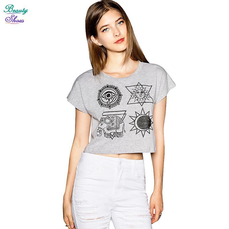 Женская футболка Qideal-L 2015 Blusas T 8311 женская футболка l