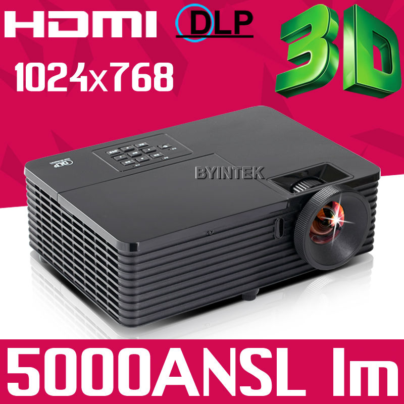 300inch 5000ANSI Home Theater Zoom Classroom Full HD 1080P Video Outdoor Data Show Rear Holographic DLP 3D Projector Proyector(China (Mainland))