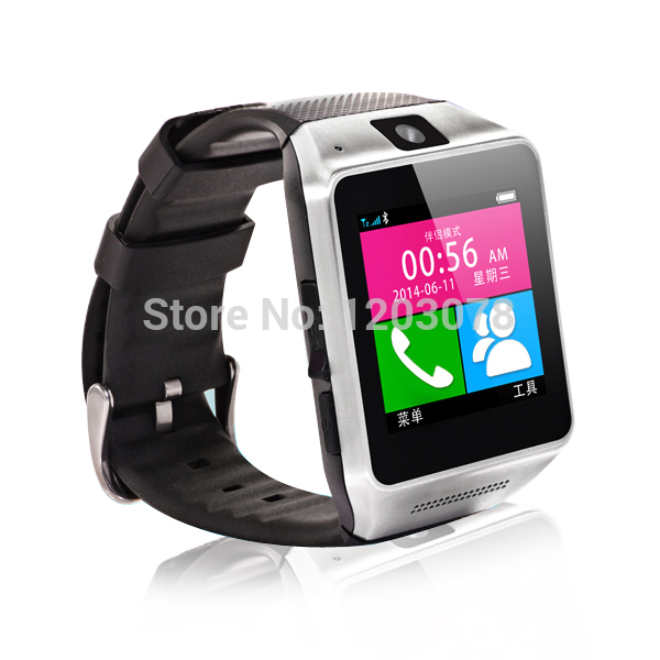 """Smart Watch GV08 1.54"""" 1.3M camera Memory card and SIM card slot Pedometer Smartwatch for man and woman for Android phone(China (Mainland))"""