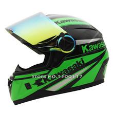 Kawasaki Full Face Motorcycle helmet Racing Moto Motocicleta Capacete Casco Casque Kask Street Helmets 4 Colors Tinted Visor