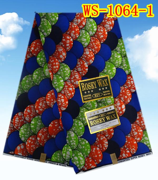 China wholesale 6 yards/lot cotton real wax prints fabric WS-1064-1(China (Mainland))