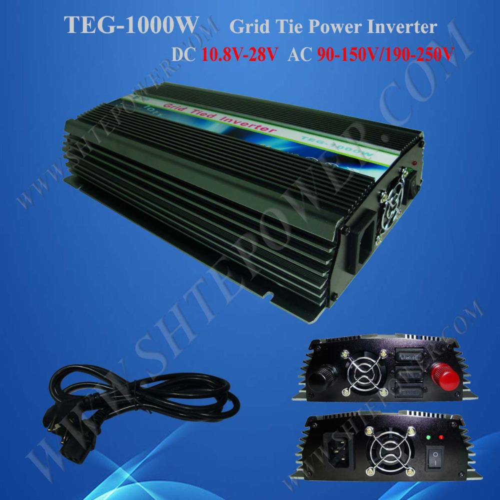 Grid Tie Solar Inverter 1KW Inverter On Grid DC 10.8-28V to AC 220V/230V/240V(China (Mainland))