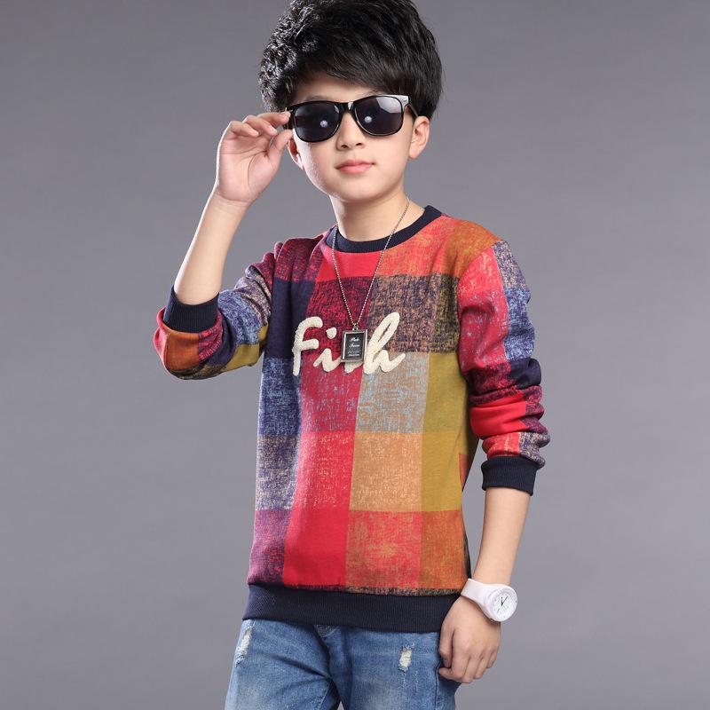 5-13t T-shirt Boy Spring Autumn Wear Long Sleeve Tshirt Kids Teenage Baby Boy Tee Shirt Engant 2016 Boy Clothing Brand(China (Mainland))
