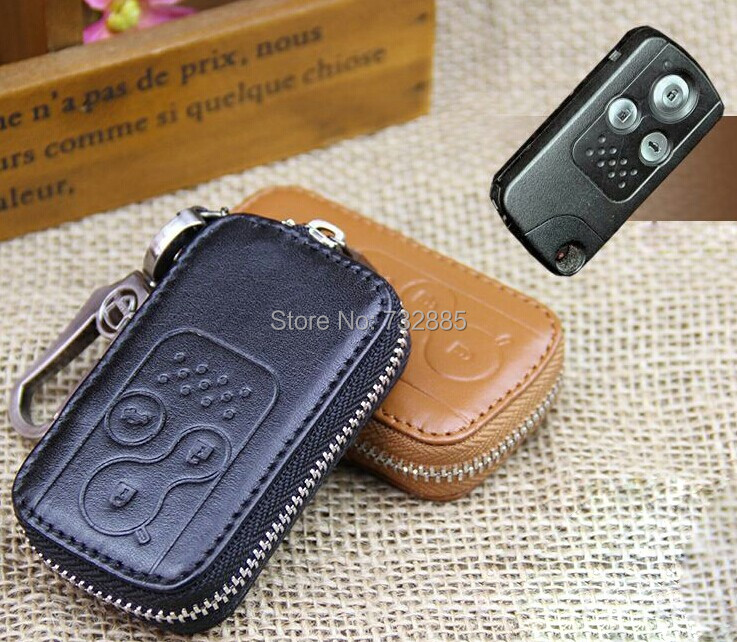 LEATHER CAR KEY CASE FOB WALLETS FOR  HONDA CIVIC ODYSSEY SPIRIOR ACCORD KEY HOLDER WITH KEY RINGS <br><br>Aliexpress