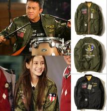 Bape bomber jacket flying tiger emobroidery baseball coat harakuju men women outer homme veste hombre chaqueta brand streetwear