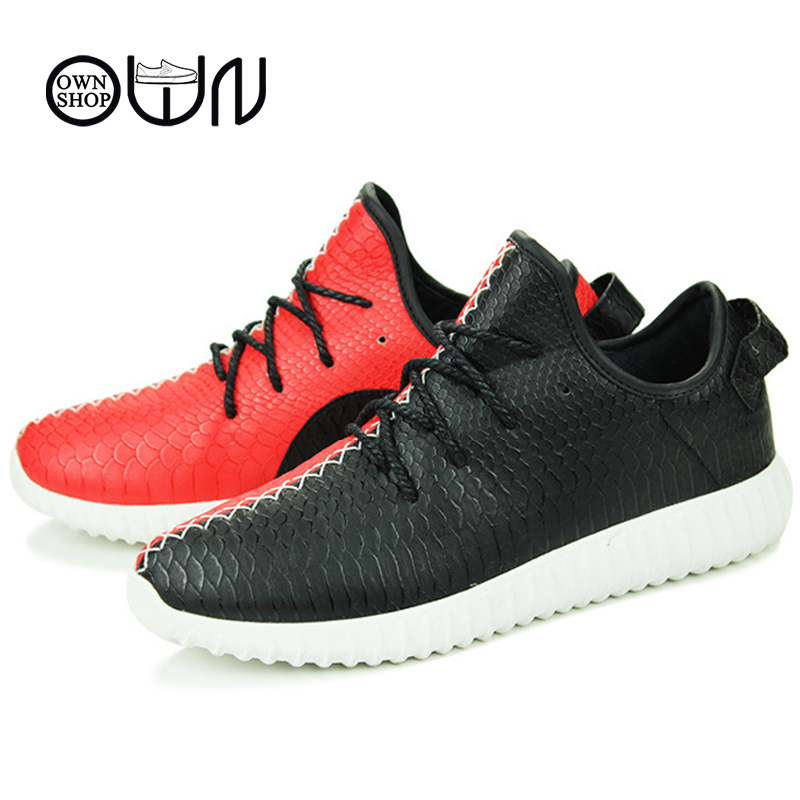 Men Shoes 2016 Fashion Casual Flat Mens Shoe Kanye West Current Pu Leather Brand Spring Summer Autumn Winter Red Black For Men<br><br>Aliexpress
