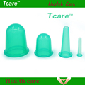 Tcare 4PCS Health Care Body Beauty Silicone Vacuum Cupping Cups Neck Face Back Massage Cupping Cups