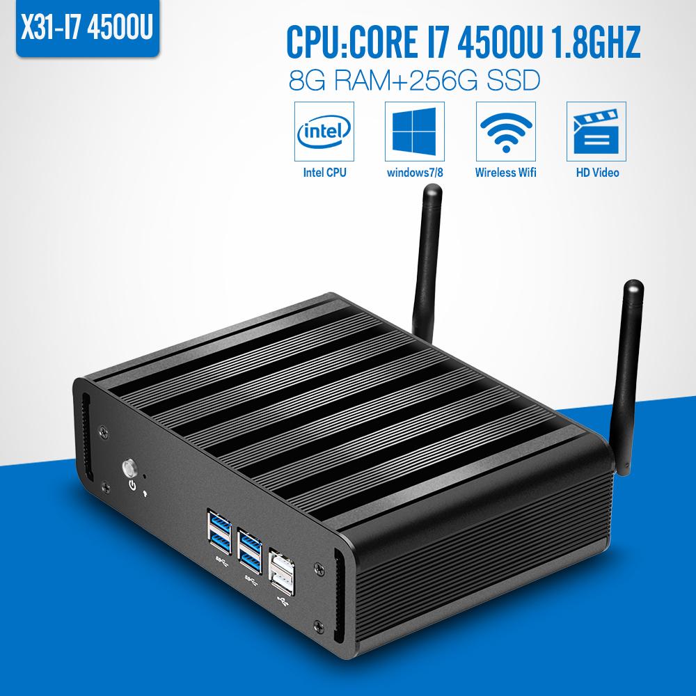 I7 4500U 8gb ram 256gb ssd+WiFi mini pc mini pc vga linux server can run window 7 Dual core 1.8GHZ(China (Mainland))