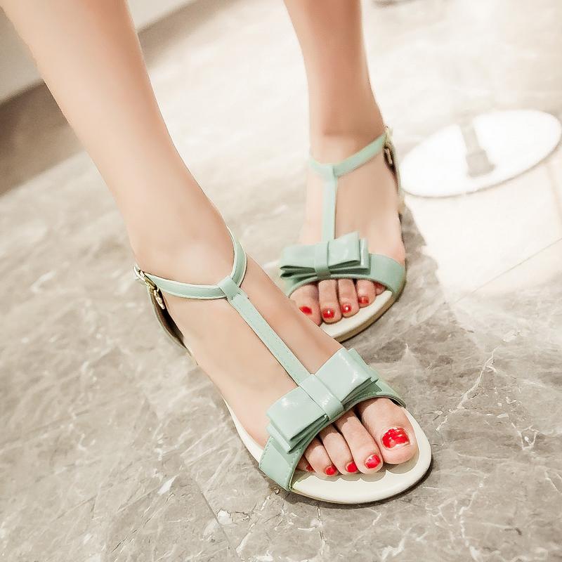 2015 mujeres ocasionales del verano sandalias de moda para mujer blanca de menta verde camisetas de tirantes Slip on plataforma zapatos planos de tamaño grande 35-43 405(China (Mainland))