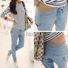 2015 new spring Korean casual cotton pants Slim feet harem pants wild long fashion pants women A271(China (Mainland))