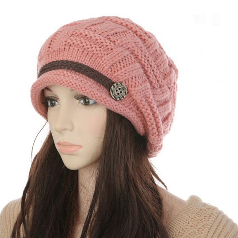 2016 Fashion Women's Hats Winter Warm Rageared Baggy cap Beanie Knit Crochet Hat Caps Women New(China (Mainland))