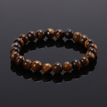 Buy High Tiger Eye Buddha Bracelets Natural Stone Lava Round Beads Elasticity Rope Men Women Bracelet Free 2016 for $1.03 in AliExpress store