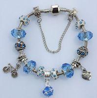 Bracelet bangle Europe Fashion Crystal pendant Crystal Glass Beads  Fits Pandora Style Bracelets Jewelry fashion Beads for women