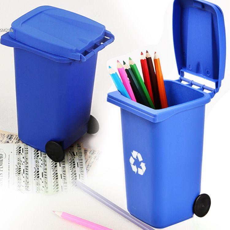 Plastic Mini Trash And Recycle Can Box Desktop Organizers