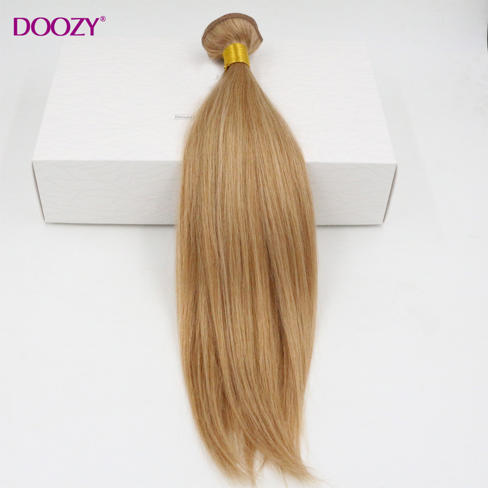 Doozy 8A strawberry blonde straight brazilian virgin hair 3pcs lot color #27 virgin remy human hair bundles<br><br>Aliexpress
