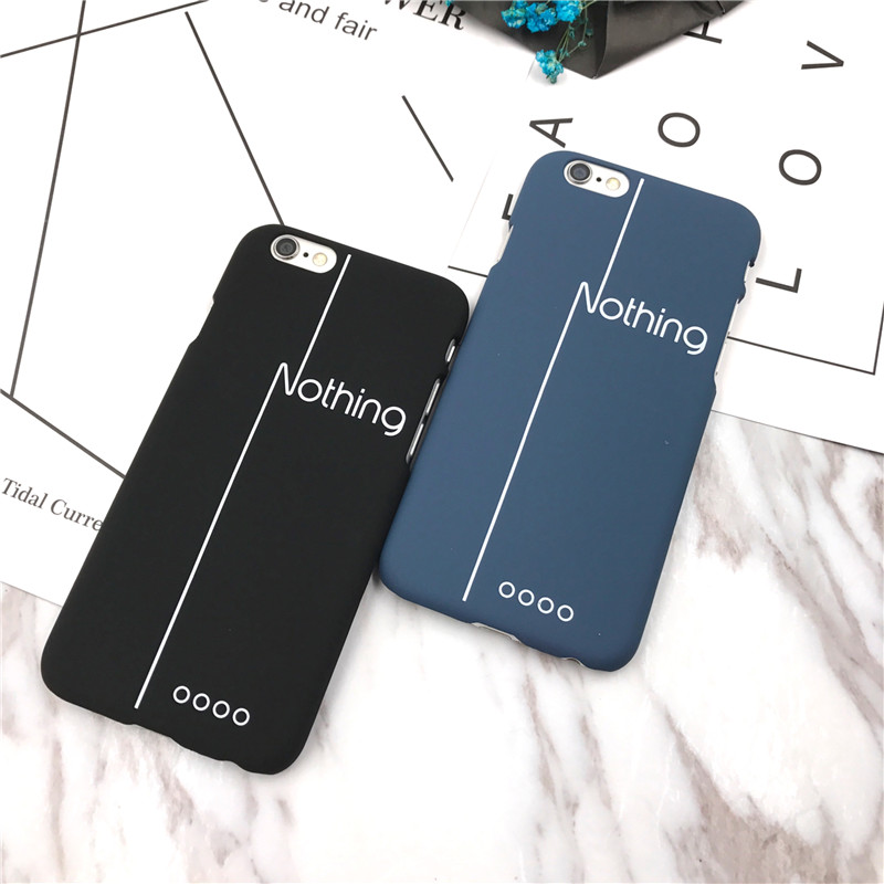 Fashion back cover For iphone 7 5 5s SE 5 6 6s 6plus 7plus Case Popular Word Nothing Luxury Matte Hard Plastic Phone Case Cover(China (Mainland))