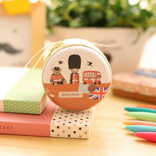New Fashion Korean Creative Coin Purse British Style Coin Bag Mini Headset Pouch Circular Purse London