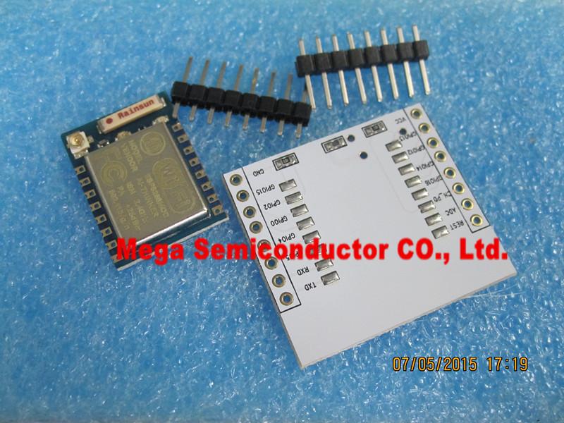 Serial WIFI ESP8266 module + adapter plate Full IO port leads (you can choose the ESP - 07, the ESP - 08, ESP - 12E)(China (Mainland))