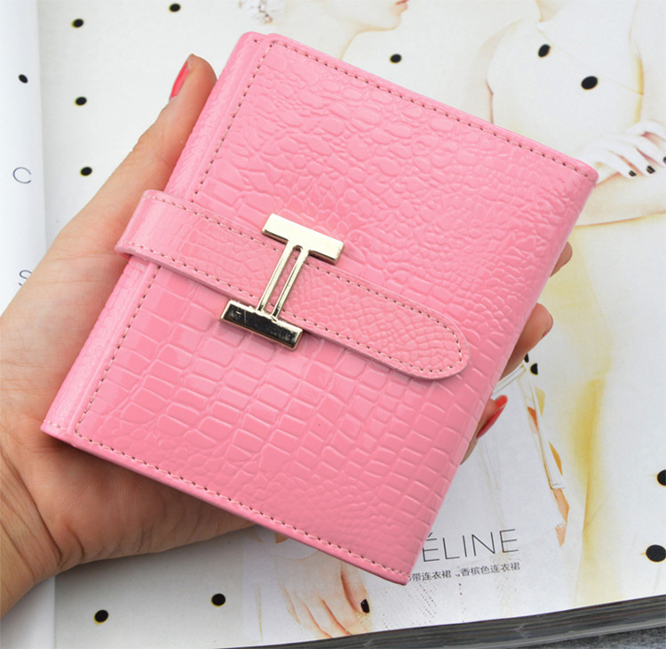 2015 new seventy percent off small wallet MS short crocodile cow leather wallet wallet vertical ladies Specials(China (Mainland))