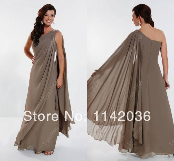 Modest floor length chiffon one shoulder mother groom 2016 for Mother of the groom dress beach wedding