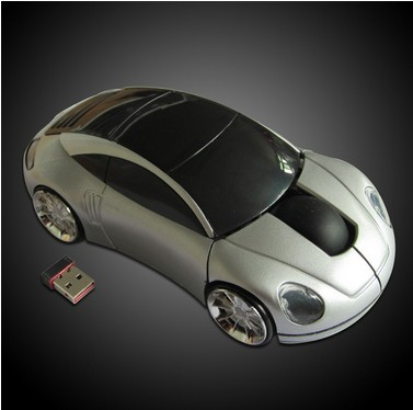 Hot Hot Popular 10M 2.4GHZ Mini USB Optical Wireless Mouse Car Shape Mouse for Computer PC Laptop with Retail Packagemice(China (Mainland))