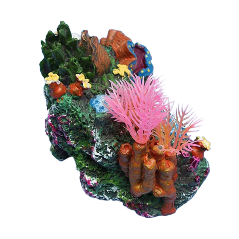 2016 new arrive artificial mounted coral reef fish cave for Aquarium cave decoration