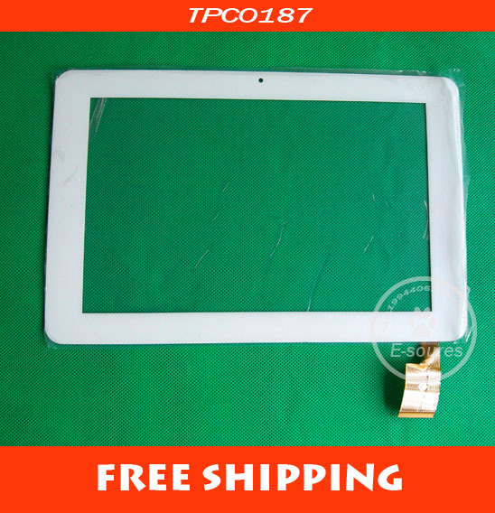 Free shipping 10.1 inch touch screen digitizer touch panel glass for Sanei N10 Ampe A10 white Tablet PC MID TPC0187 VER 1.0(China (Mainland))