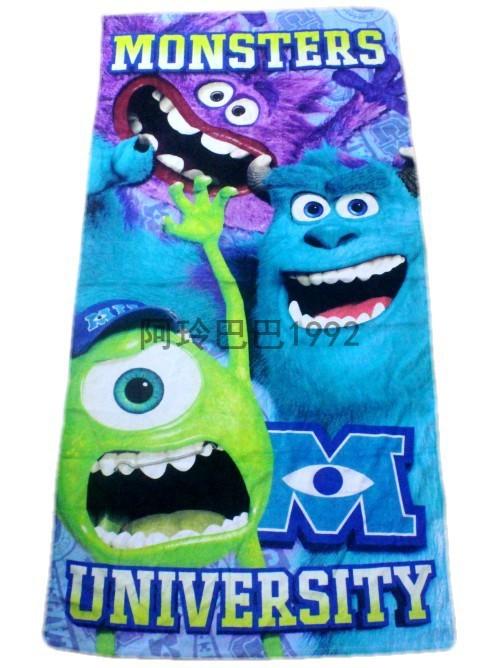 142*72cm Monsters University Towels baby bath towel Children Beach Bath Towel Sullivan Mike Art cartoon towels -FREE SHIPPING(China (Mainland))