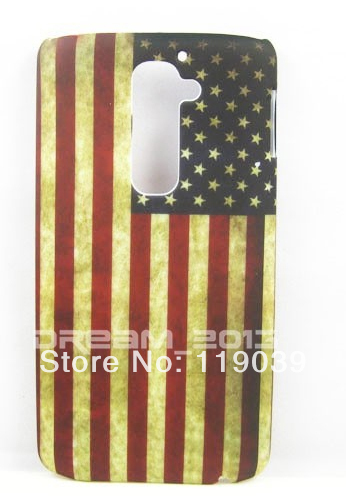 Free shipping Retro USA Flag United States US Flag Hard Rubber Phone cases Case Cover protector For LG Optimus G2 D802 CASE(China (Mainland))
