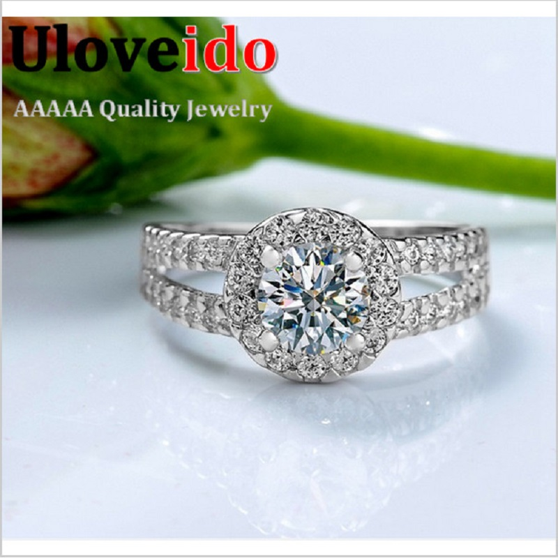 Fashion Zirconia Stone Silver Rings for Women Engagement Girls Valentine s Gift Fine Beautiful Star Charm