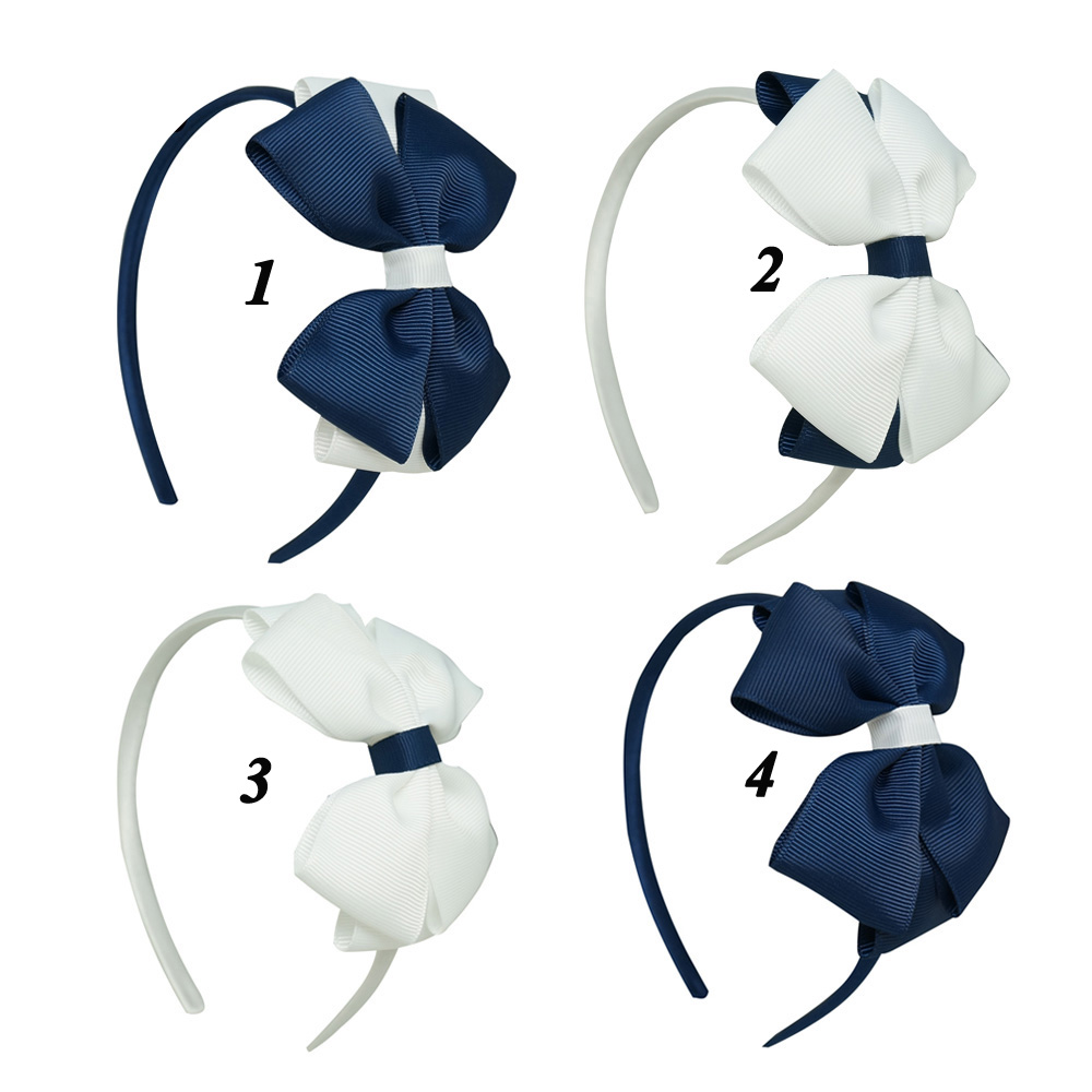 Lovely Baby Girl Soft Headband Handmade Solid Stretch Ribbon Hairband For Children Girls(China (Mainland))