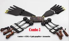 Original DJI E600 3508 Motor + 20A ESC + 1242 Propeller Power Combo Kits for DJI F450 F550 Hexacopter Drone High Efficiency