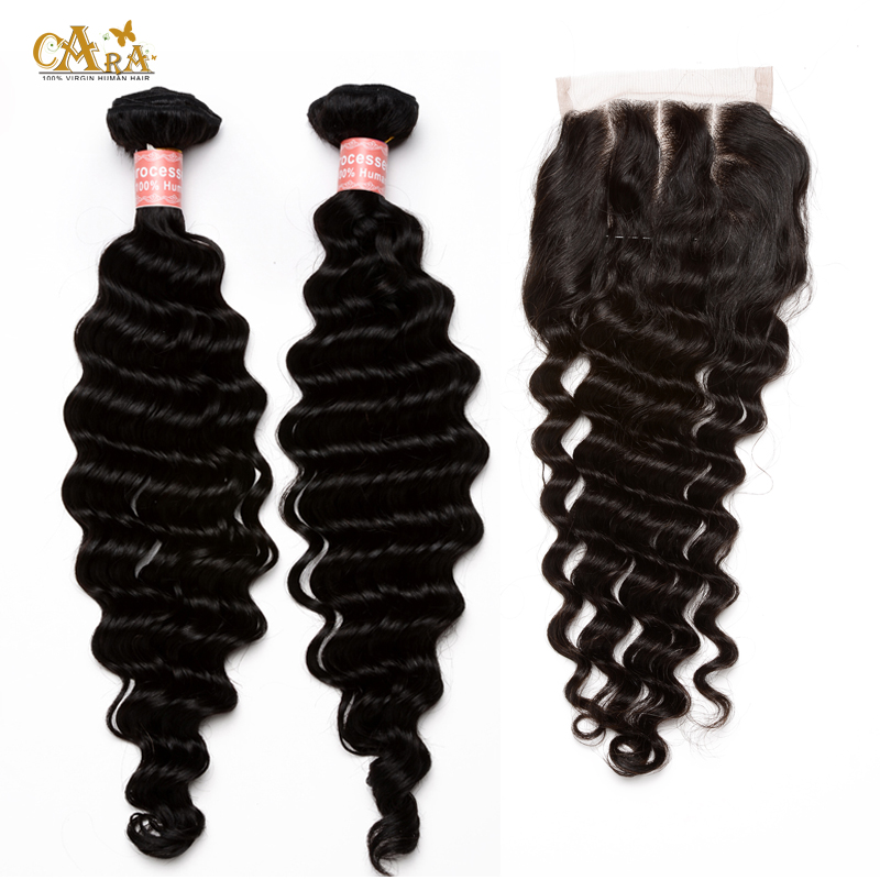 6A Brazilian Virgin Hair With Closure Rosa Hair Products With Closure Human Hair With Closures Brazilian Loose Wave With Closure