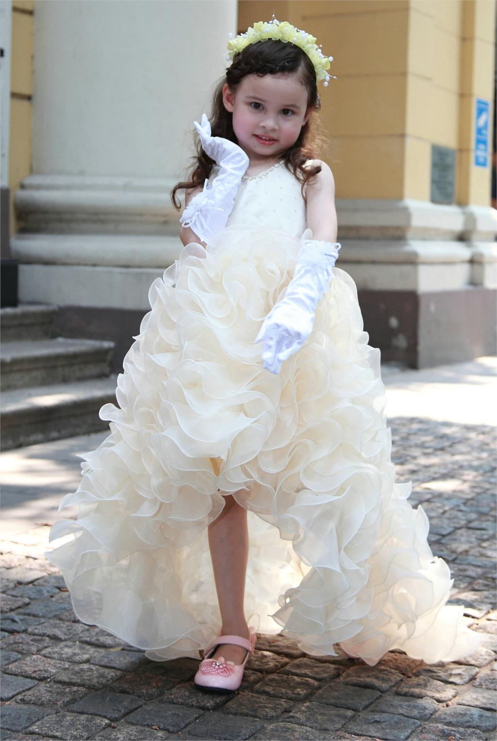 kids dresses for girls Long dovetail mop Girls wedding dress princess tutu dresses children clothing 0132<br><br>Aliexpress
