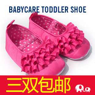 care comfort professional skidproof toddler soft outsole baby children shoes princess formal dress shoes cake shoes, cute gift(China (Mainland))