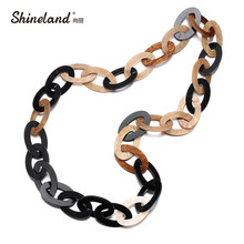 Buy Shineland Statement Necklace Vintage Unique Fashion Punk Big Acrylic Chain Necklaces & Pendants Women Men Jewelry Accessories for $6.66 in AliExpress store