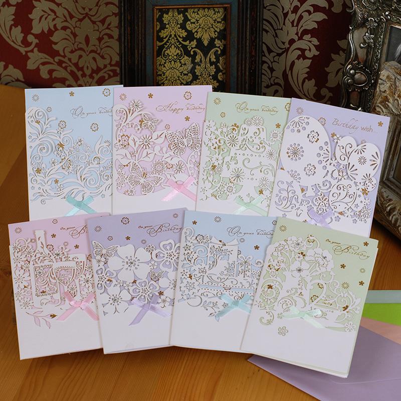 2015 korean stationery elegant handmade craft lasercut for Elegant homemade christmas cards