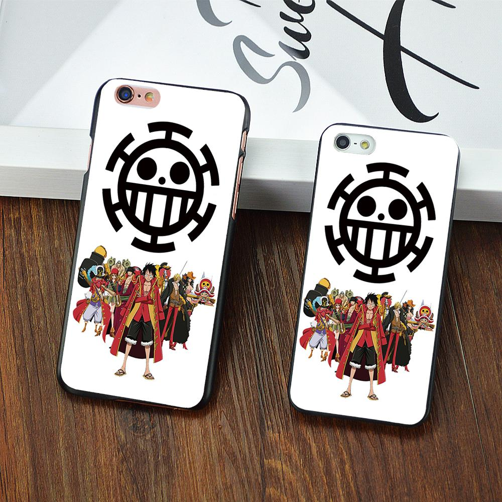Cute Cartoon 1D One Piece Luffy White cover Hard shell phone cases For Apple iphone 6 6S Plus 5S 5 5C 4 4S