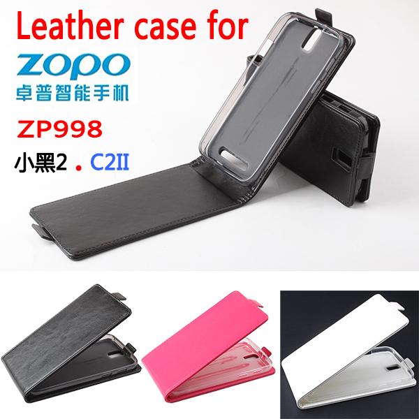1,New 2014 Luxury Fashion Flip Genuine Leather Case Cover Zopo Zp998 Zp9520 C2,Original Mobile Phone Bag/ - MMZ Union Source store