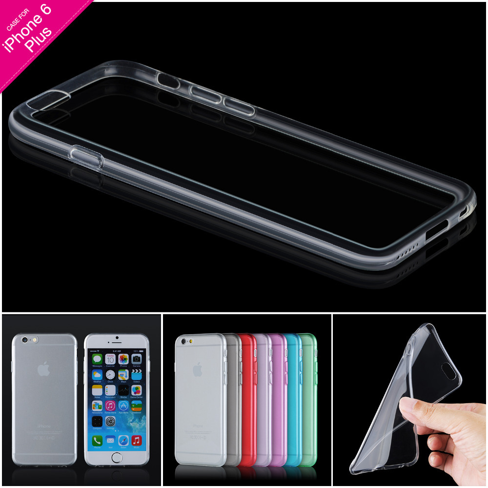 """Ultra thin TPU Clear Case For Apple iPhone 6 6S 4.7 & 6p/ 6p 6S Plus 5.5 """" Slim Phone Back Cover Cheap Phone Accessories(China (Mainland))"""