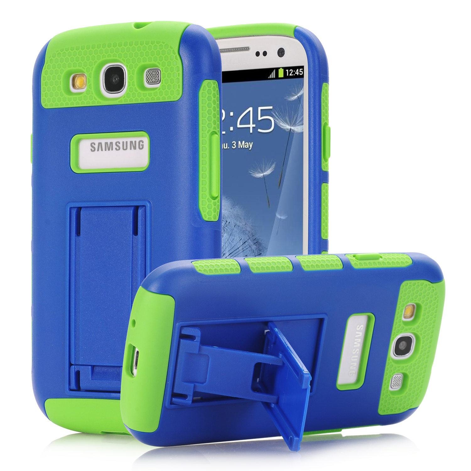 WeFor Cover Case For Samsung Galaxy S3 i9300 Hybrid Impact Dual Kickstand Silicone Case Cover Retailed Package and Screen Film(China (Mainland))